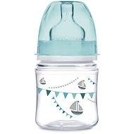 Canpol babies Láhev se širokým hrdlem PARTY 120 ml modrá - Kojenecká láhev