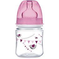 Canpol babies Láhev se širokým hrdlem PARTY 120 ml růžová - Kojenecká láhev
