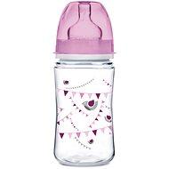 Canpol babies Láhev se širokým hrdlem PARTY 240 ml růžová
