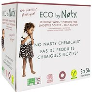 NATY ECO Wet Wipes (3 × 56 pcs) - Eco Wet Napkins