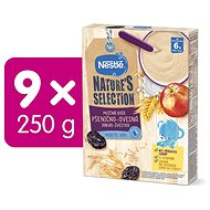 NESTLE BL Milk Porridge, Wheat Oat, Apple Plum 9 × 250g