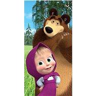 """Jerry Fabrics osuška - Máša a medvěd """"Forest"""" - Dětská osuška"""