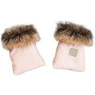 Beztroska Rukavice s kožešinou pink powder - Rukavice na kočárek