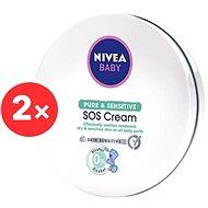 NIVEA Baby Pure&Sensitive SOS Cream 2× 150 ml