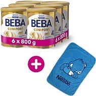 BEBA COMFORT 4 HM-O (6× 800 g) + Nestlé Deka Coral fleece Blanket - Kojenecké mléko