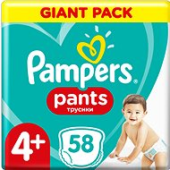 PAMPERS Pants Maxi+ vel. 4+ (58 ks) – Giant Pack