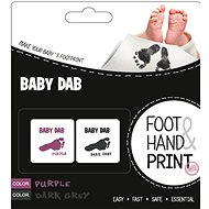 Baby Dab Colour for baby prints - purple, grey - Creative Kit