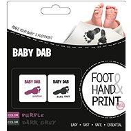 Baby Dab Barva na dětské otisky - fialová, šedá  - Sada na otisky