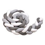 Mantinel do postýlky T-tomi Pletený mantinel 360 cm, white + grey + anthracite