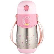 Canpol babies Termoláhev se slámkou 300 ml růžová - Dětská termoska