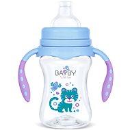 BAYBY Trénovací lahev 12m+ Modrá - Láhev na pití pro děti