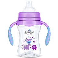 BAYBY Trénovací lahev 12m+ Fialová - Láhev na pití pro děti