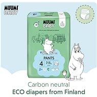 MUUMI BABY Walkers Maxi vel. 4 - měsíční balení (120 ks) - Eko plenkové kalhotky
