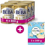 BEBA COMFORT 2 (6×800 g) + Nestlé Bo Bear Osuška s kapucí  - Kojenecké mléko
