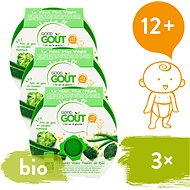 Good Gout BIO Brokolice, cuketa a zelené fazolky s tarhoňou 3× 220 g - Příkrm