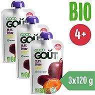Good Gout BIO Plum 3 × 120g - Baby Food