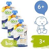 Good Gout BIO Vanilkový jogurt s hruškou 3× 90 g - Příkrm