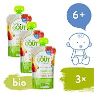 Good Gout BIO Oat Dessert with Strawberry and Banana 3 × 90g - Baby Food