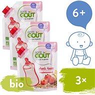 Good Gout BIO Dětská jahodová instantní kaše v prášku 3× 200 g - Nemléčná kaše