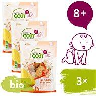 Good Gout BIO Mangové polštářky 3× 50 g - Sušenky pro děti