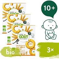 Good Gout BIO Vanilková kolečka 3× 80 g - Sušenky pro děti