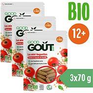 Good Gout Mini bagetky s rajčátky 3× 70 g - Křupky pro děti