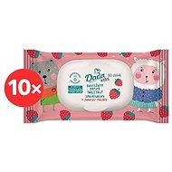 DADA Dětský vlhčený toaletní papír Kids 10× 60 ks - Toaletní papír