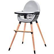 Kinderkraft FINI grey/black - Jídelní židlička