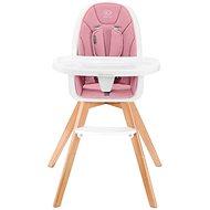 Kinderkraft 2v1 Tixi Pink - Jídelní židlička