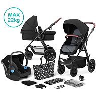 Kinderkraft 3-in-1 XMOOV 2020 Black - Baby Buggy