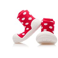 ATTIPAS Polka Dot Shoes AD06-Red Size S (96-108 mm) - Baby booties