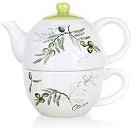BANQUET Konvička keramická se šálkem OLIVES, OK - Tea For One