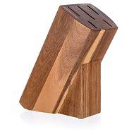 BANQUET Stojan dřevěný pro 5 nožů BRILLANTE Acacia 23 x 11 x 10 cm - Stojan na nože