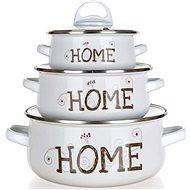 Sada smaltovaného nádobí HOME Coll., 6 ks - Sada nádobí