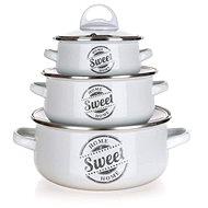 Sada smaltovaného nádobí SWEET HOME, 6 ks - Sada nádobí