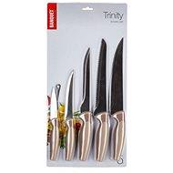 BANQUET Sada nožů TRINITY, 5 ks, hnědá - Sada nožů