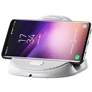 Baseus Silicone Horizontal Desktop Wireless Charger White - Bezdrátová nabíječka