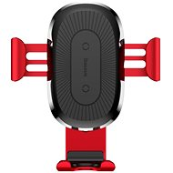 Baseus Wireless Charger Gravity Car Mount Red - Wireless charger