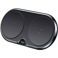 Baseus Dual Wireless Charger Black + Quick 3.0 Wall Charger + USB-C Cable - Bezdrátová nabíječka
