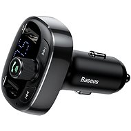 Nabíječka do auta Baseus T-typed S-09 Wireless MP3 Car Charger FM Transmitter Black - Nabíječka do auta