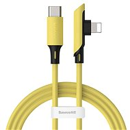 Baseus Colourful Elbow USB-C to Lightning Cable PD 18W 1.2m Yellow - Datový kabel