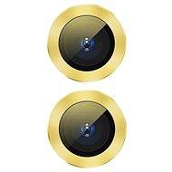 Baseus Alloy Protection Ring Lens Film for iPhone 11 Yellow - Ochranná fólie