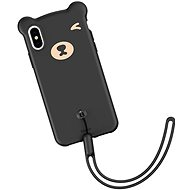 "Baseus Bear Silicone Case pro iPhone XS / X 5.8"" Black - Kryt na mobil"