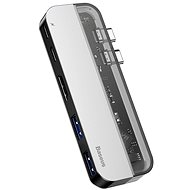 Baseus Transparent Series Dual USB-C Multifunctional HUB Adapter, Deep gray - USB Hub