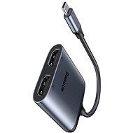 Baseus Enjoy Series Type-C (USB-C) to 2x HDMI 4K + PD Adapter Grey - Redukce