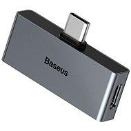 Baseus Type-C (M) to USB-C & 3.5mm Jack (F) Adapter L57 Black - Redukce