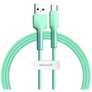 Baseus Silica Gel Cable USB to Type-C (USB-C) 2m Green - Datový kabel
