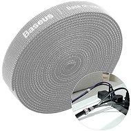 Organizér kabelů Baseus Rainbow Circle Velcro Straps 1m Gray - Organizér kabelů