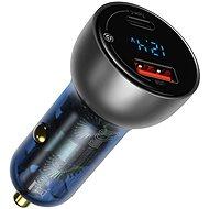 Baseus Digital Display PPS Dual Quick Car Charger 65W Light Ochre - Nabíječka do auta