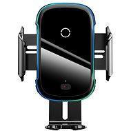 Baseus Light Electric Car Holder Wireless Charger 15W Black - Bezdrátová nabíječka